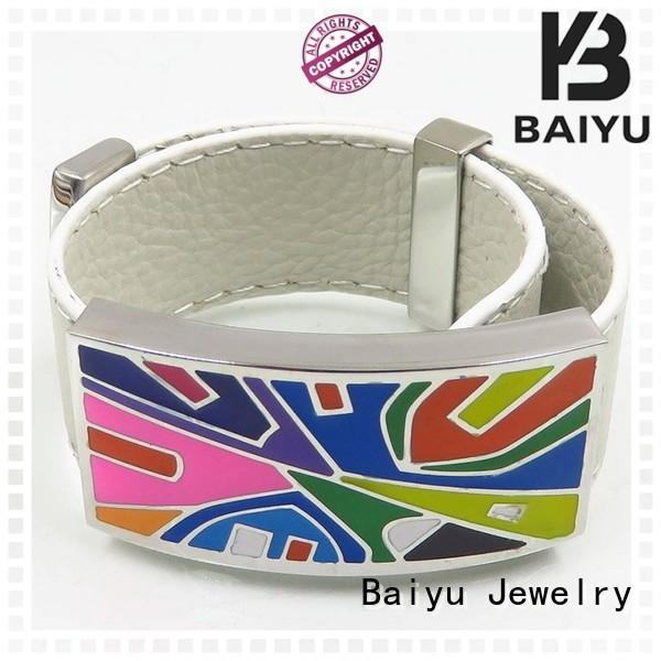 white enamel bangle high quality for girls Baiyu Jewelry