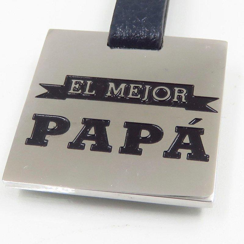 Papa style stainless steel classical keychain
