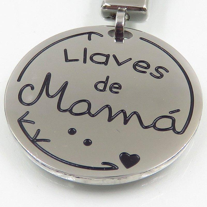 Mama style stainless steel classical keychain