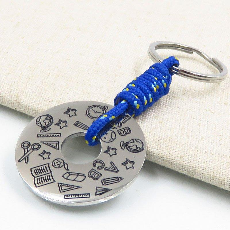 Blue braided rope style hottest keychain