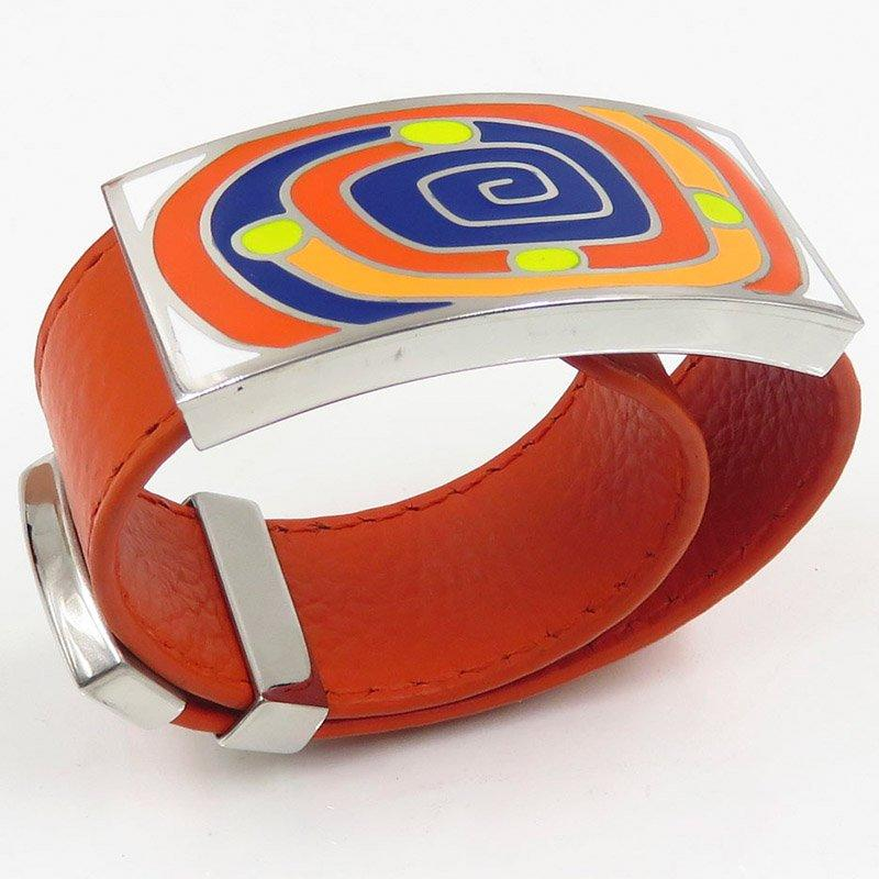 Wholesale market hot bangle with orange leather
