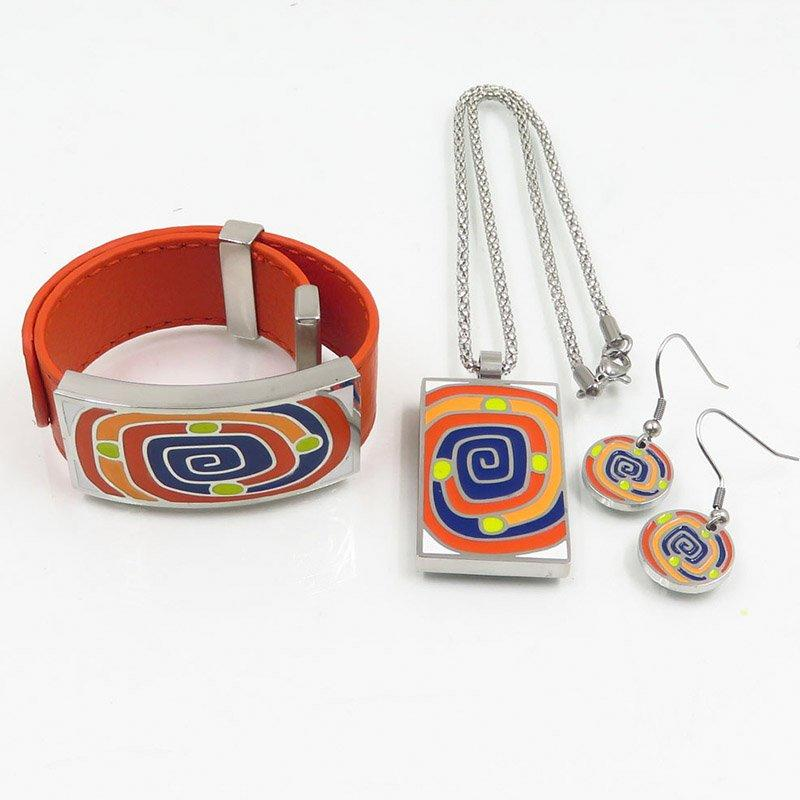 Elegrant styles enamel jewelry set for women