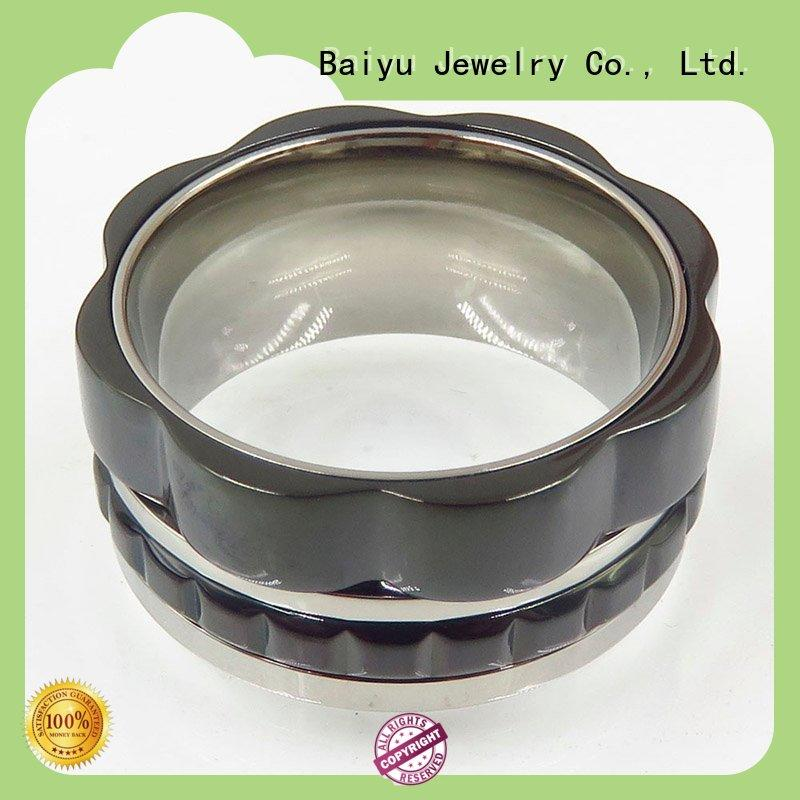 Baiyu Jewelry stainless steel rings jewelry for wholesale for gift