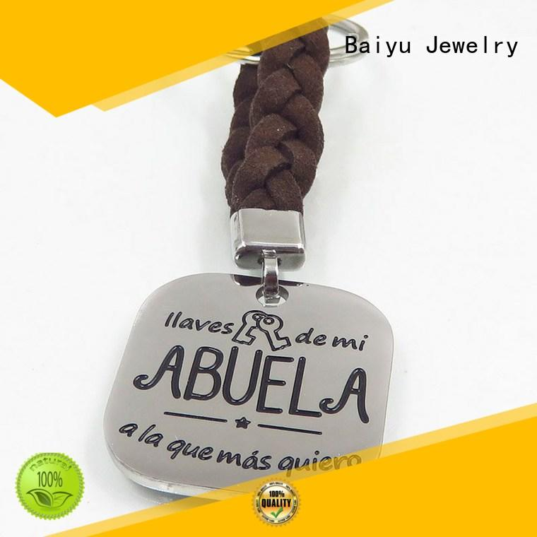 free sample custom stainless steel keychains on-sale for women Baiyu Jewelry