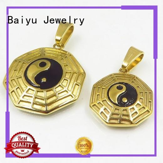 Baiyu Jewelry stainless steel couple pendant custom for men