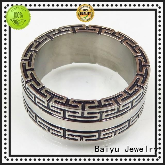 Baiyu Jewelry long his and hers stainless steel rings for wholesale for girl