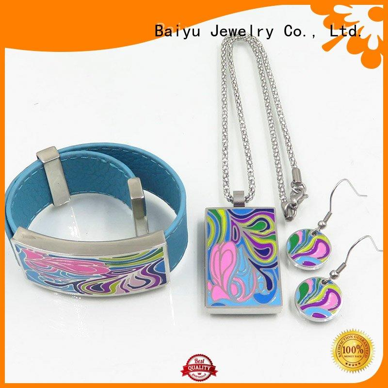 Baiyu Jewelry modern antique enamel jewelry hot sale for ladies