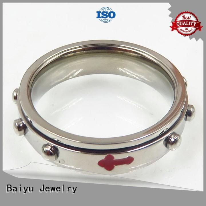 Baiyu Jewelry gold plated bulk stainless steel rings for wholesale for women