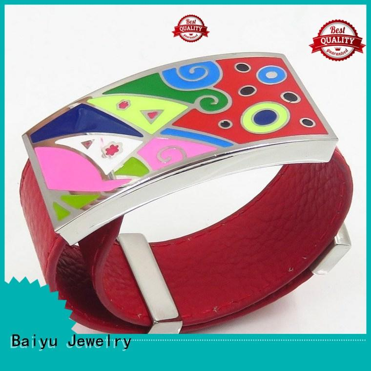 Baiyu Jewelry hottest enamel bangle bracelets wholesale on-sale for girls