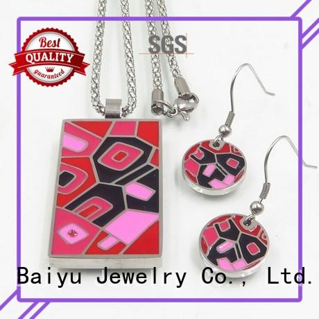Baiyu Jewelry latest enamel jewelry sets with flower use for engagement