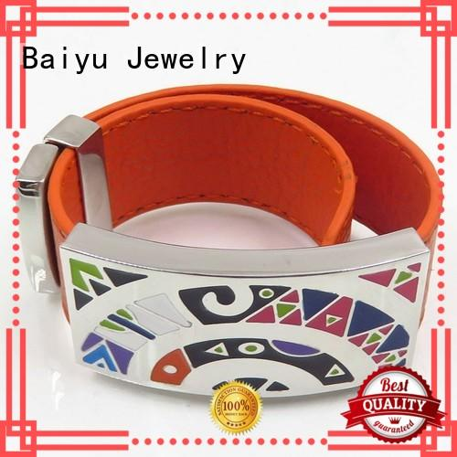 Baiyu Jewelry hot-sale enamel bangle bracelets top brand for gift