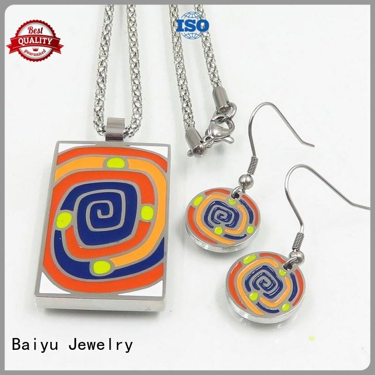 Baiyu Jewelry color vintage enamel jewelry fashionable for gifts