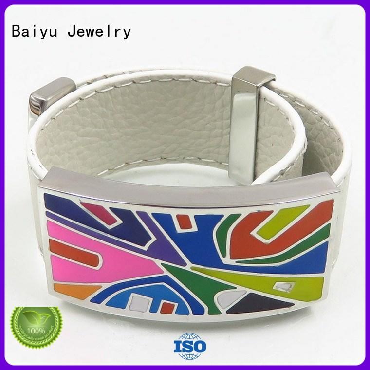 Baiyu Jewelry enamel bangle bracelets top brand for gift