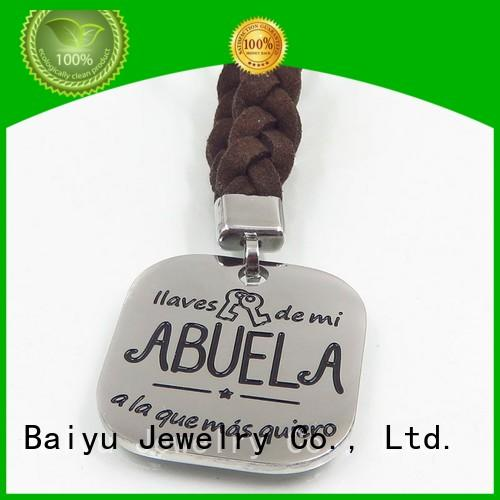 Baiyu Jewelry custom metal keychains for ladies
