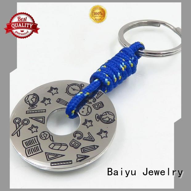 hot-sale keychain manufacturers green gemstone for girls Baiyu Jewelry
