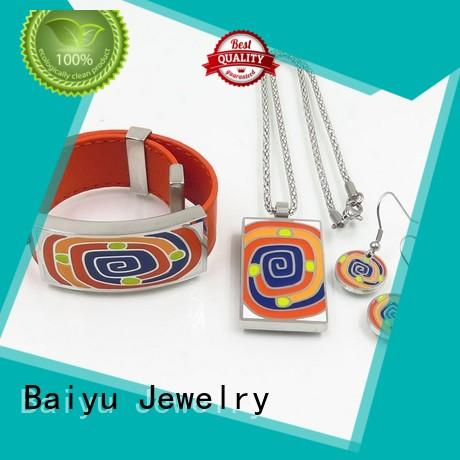 charming enamel necklace wholesale with flower use for engagement Baiyu Jewelry