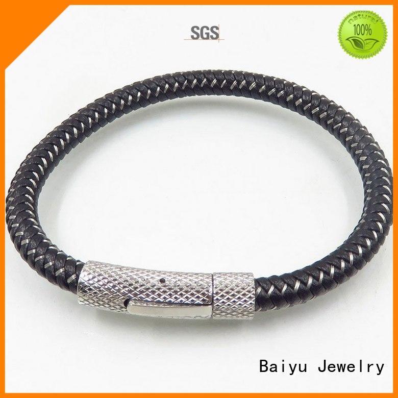 some leather bangle imaginative for girls Baiyu Jewelry