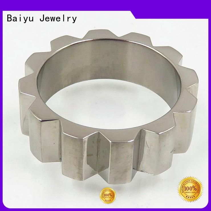 Baiyu Jewelry 316 stainless steel rings free sample for lady
