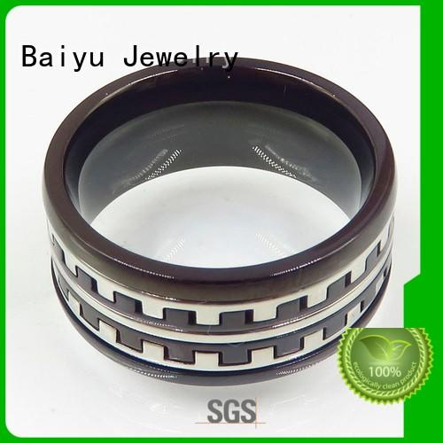 bulk stainless steel rings natural for gift Baiyu Jewelry