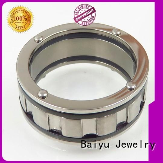 Baiyu Jewelry fashion designs stainless steel rings jewelry stone for girl