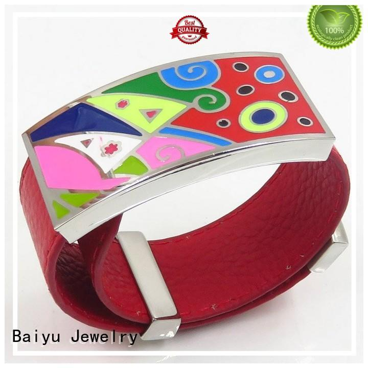 Baiyu Jewelry popular enamel bangle bracelets for girls