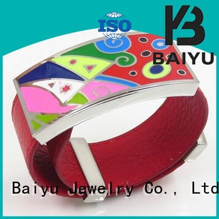 lady market steel enamel bangle white Baiyu Jewelry