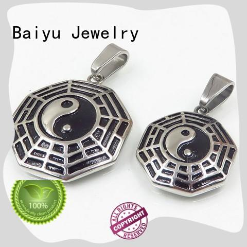 Baiyu Jewelry factory price stainless steel couple pendant by bulk for girls