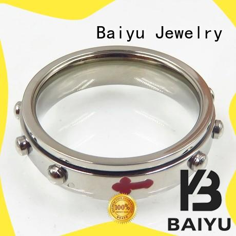Baiyu Jewelry eiffel tower 316 stainless steel rings free sample for girl