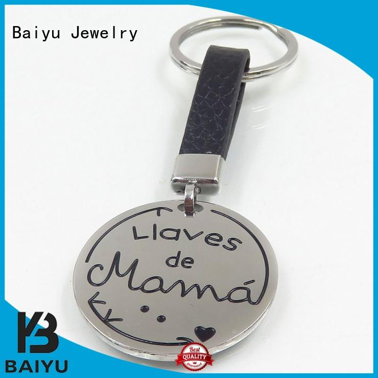 Baiyu Jewelry ss keychain necklace for ladies