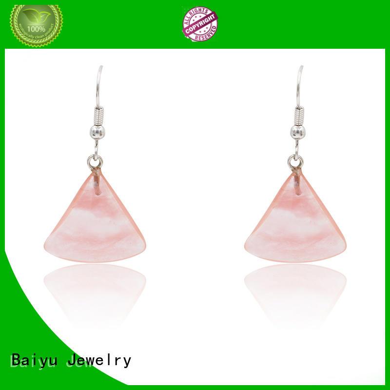 Baiyu Jewelry dangle earrings with stone with jewelry