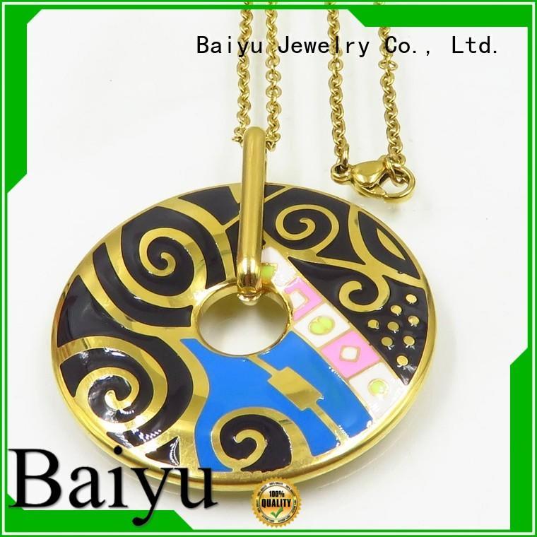Baiyu Jewelry Brand statement oil silver enamel necklace