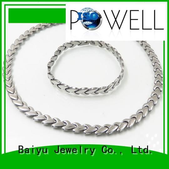 necklace stainless stainless steel jewelry set Baiyu Jewelry Brand