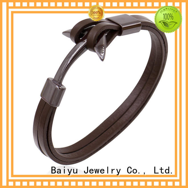 Baiyu Jewelry leather bangle bracelets on-sale for girls