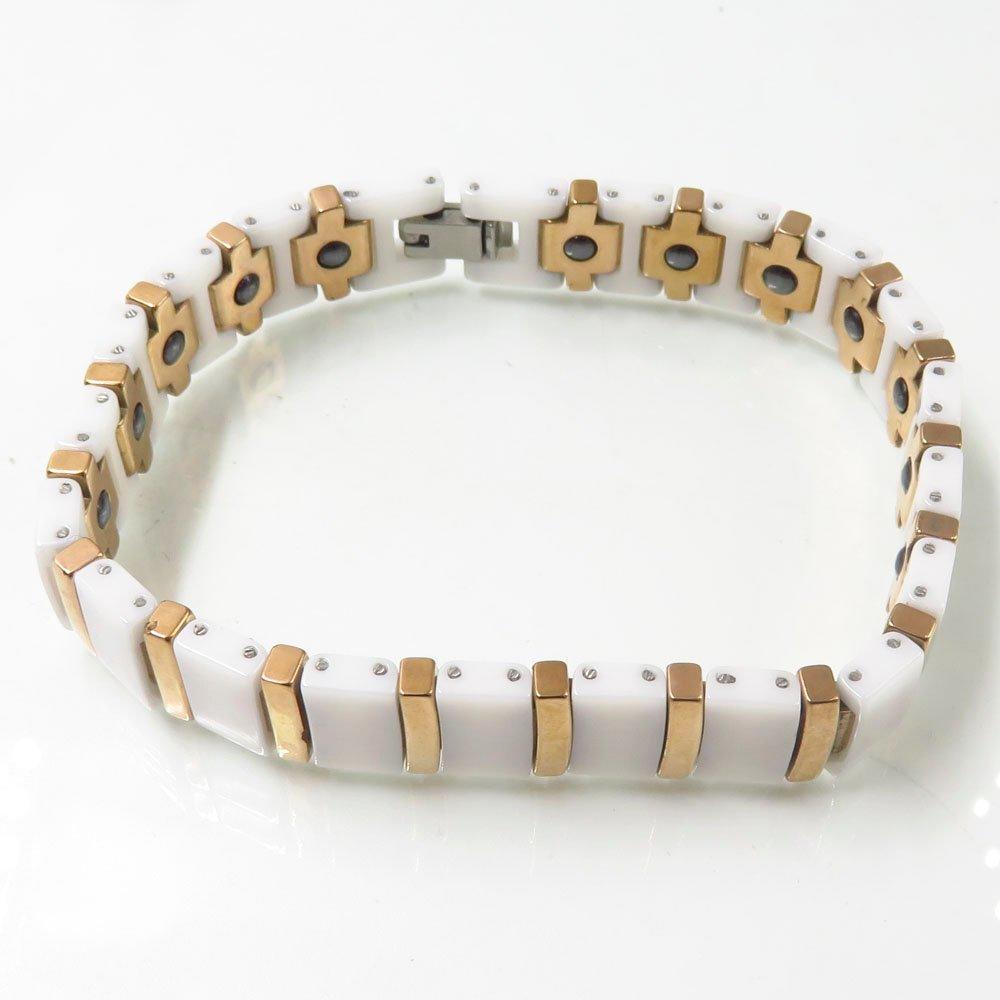 2018 men's women's fashion ceramic healthy positive stainless steel bracelet