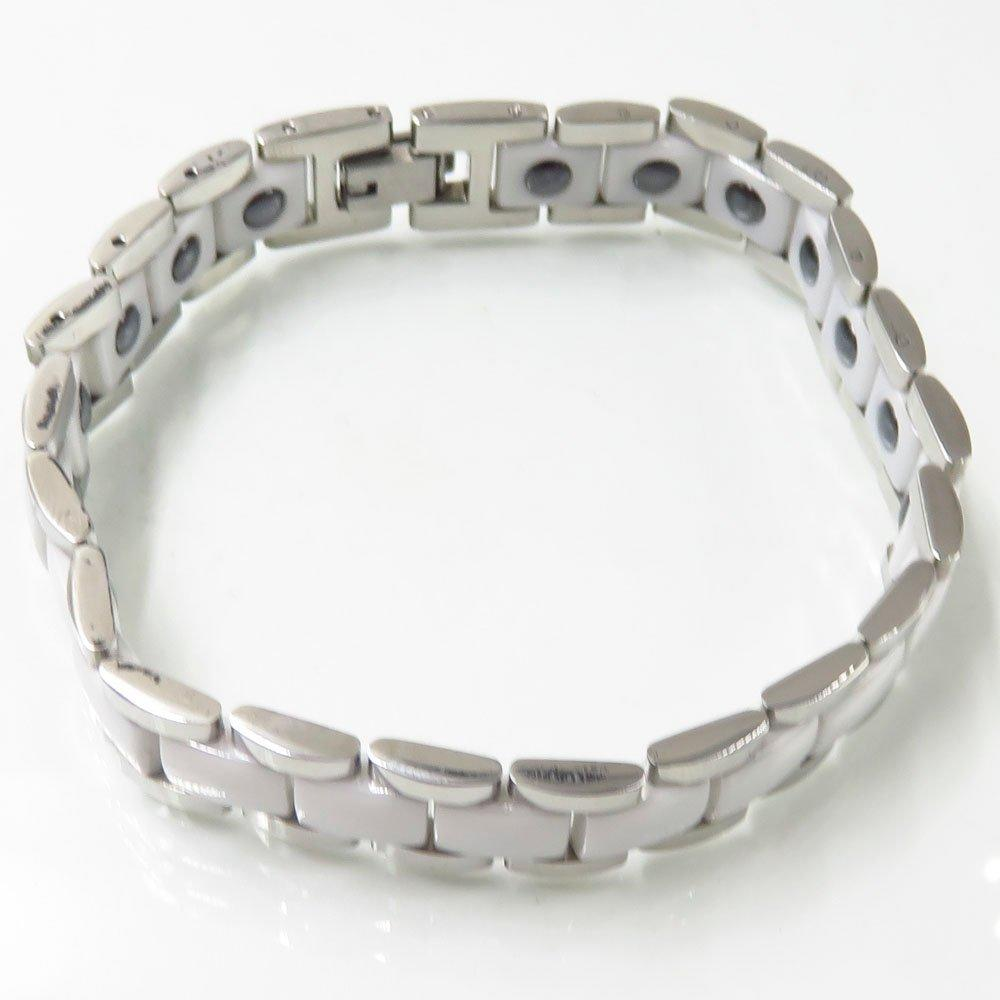 new wholesale national style silver color ceramic stainless steel bracelet