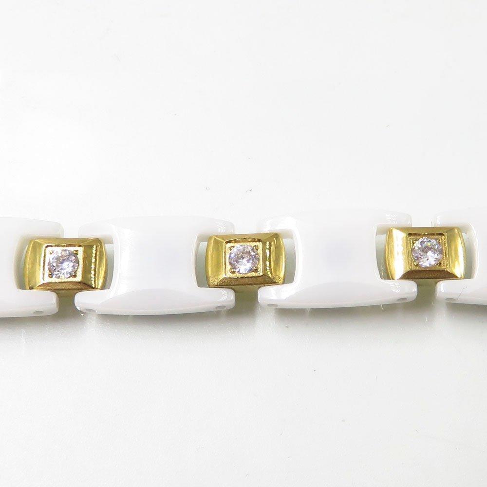 Baiyu jewelry category stainless steel ceramic healthy bracelet