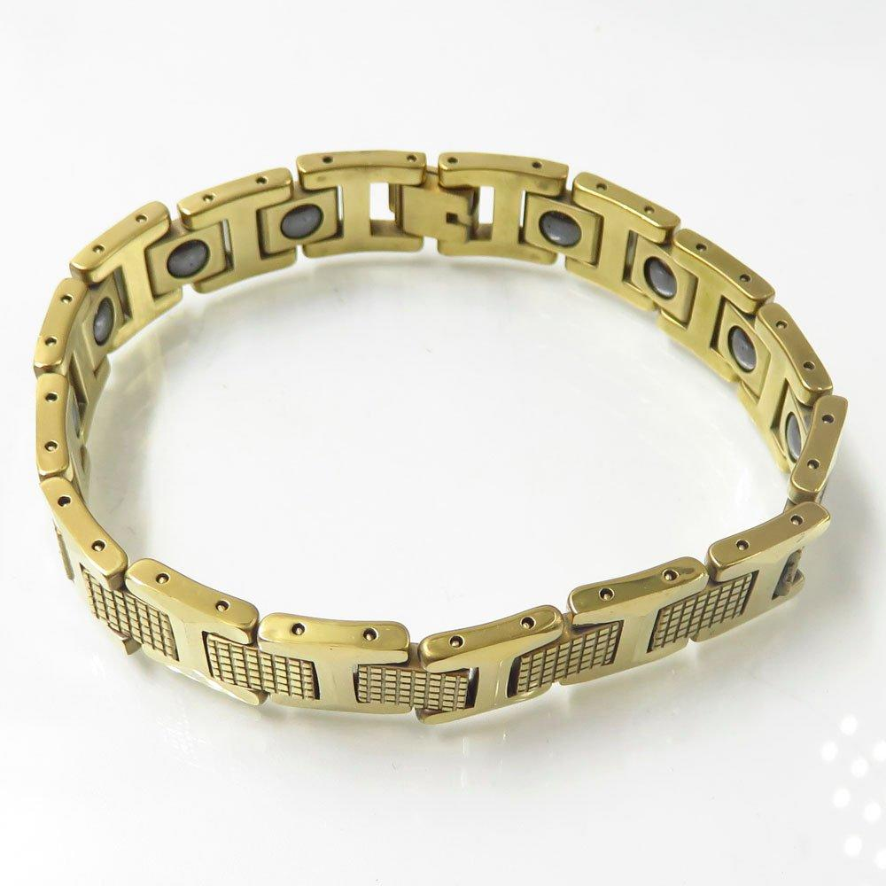 European jewelry hot sale tungsten steel gold health bracelet