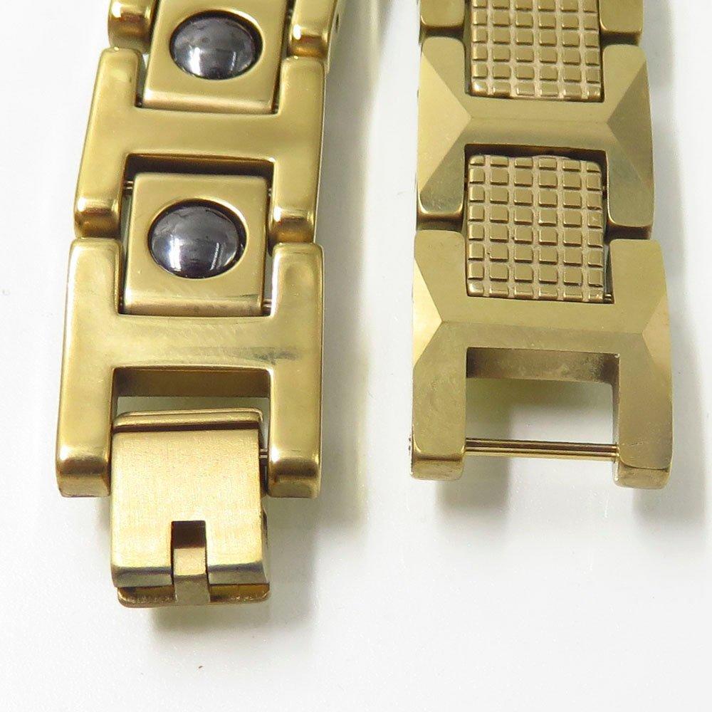 European jewelry hot sale tungsten steel gold health bracelet
