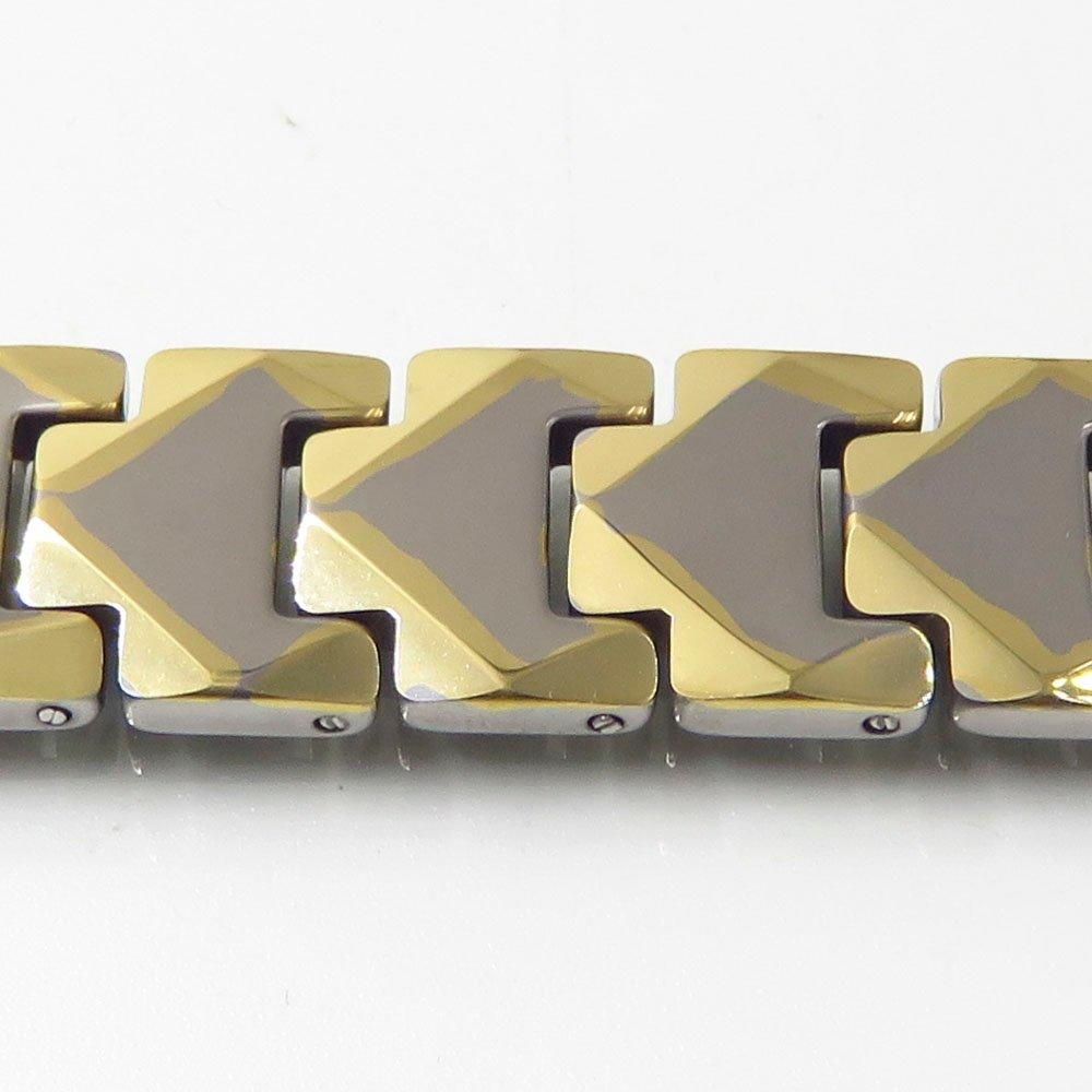 Fashion gold bracelet tungsten steel magnetic bracelet 12MM tungsten bracelet