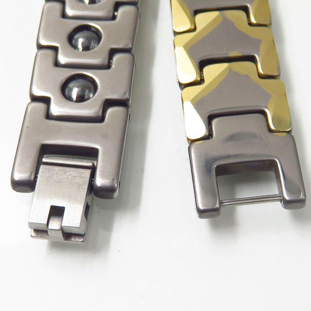 Fashion gold bracelet tungsten steel magnetic bracelet 12MM tungsten bracelet