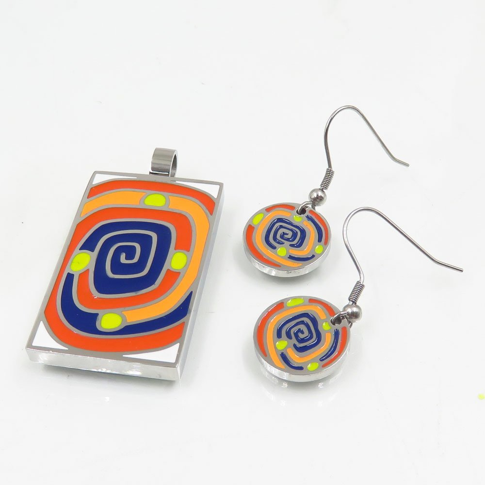 modern antique enamel jewelry colorful for bridal-1