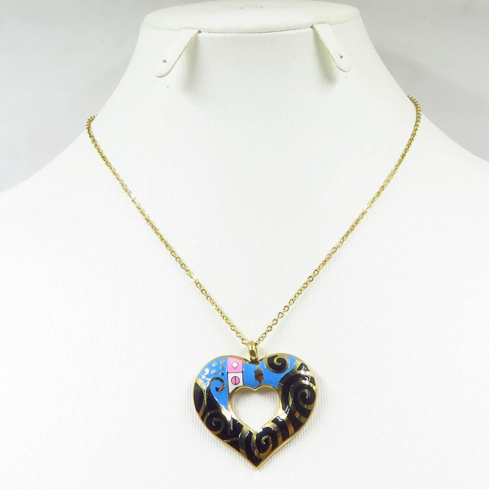 Hottest heart shaped gold plated jewellery statement necklace for women