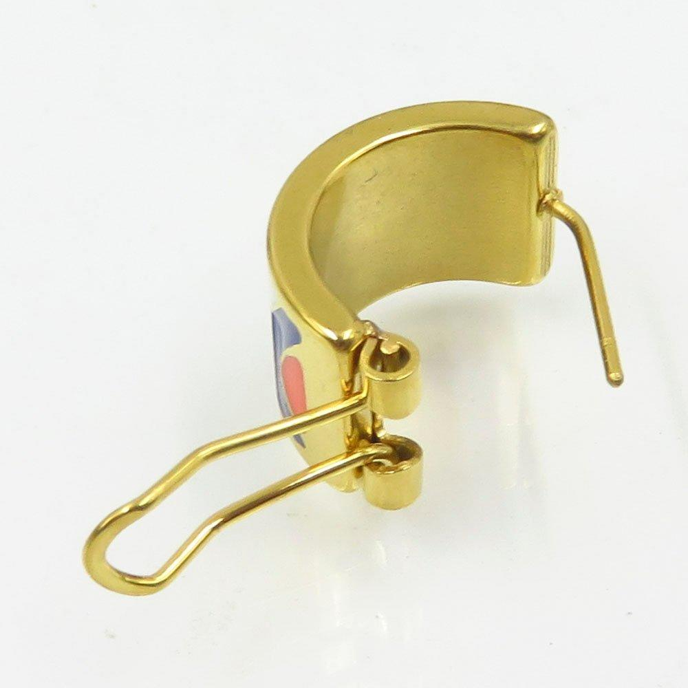 Baiyu wholesale stainless steel gold custom enamel stud earrings
