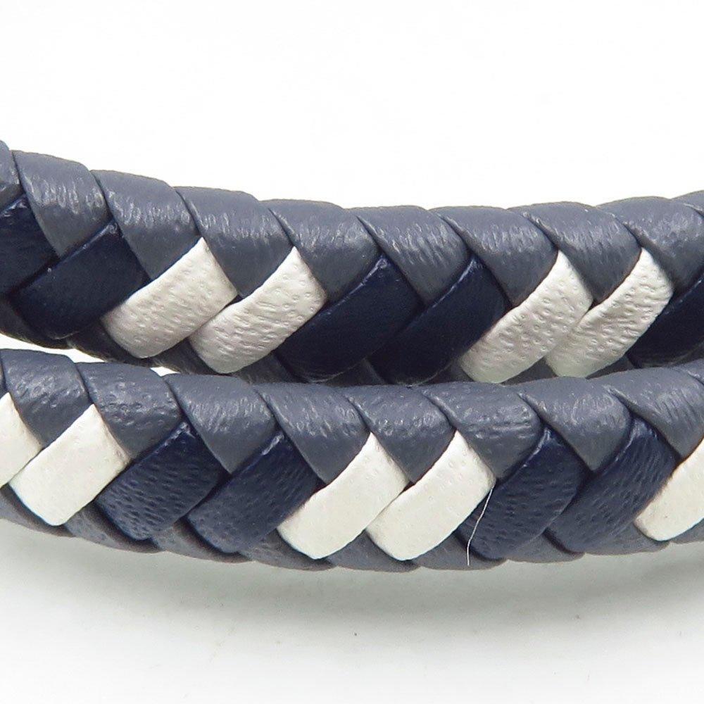 Baiyu handmade blue and white leather men bangle jewelry type bangle