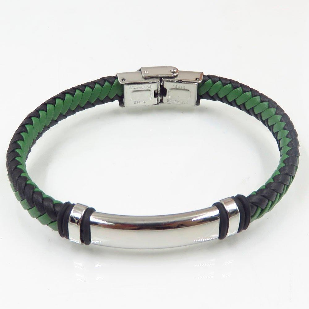 Special sex braided leather bangle for men