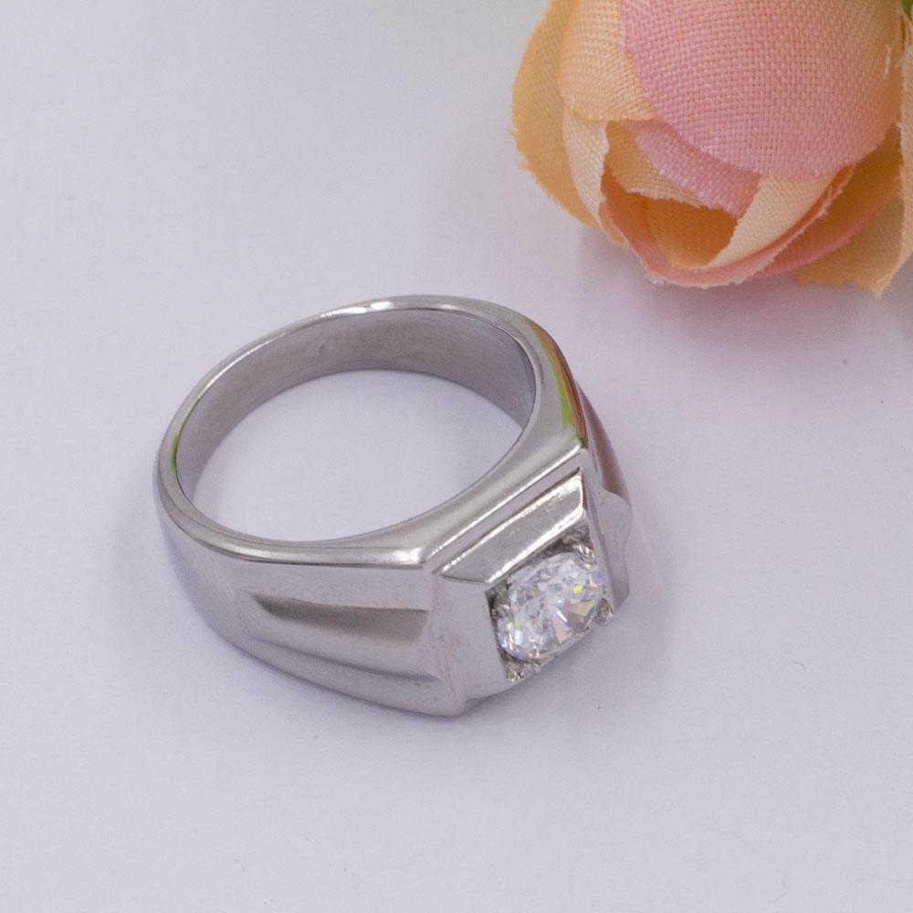 Simple fashion women silver wedding single stone ring designs