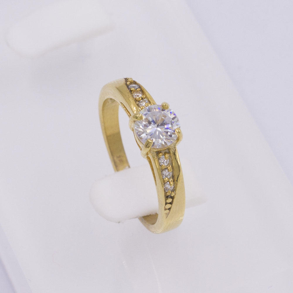 316L Stainless Steel Ring for women finger design with stone ring engraving jewelry engagement ring in gold