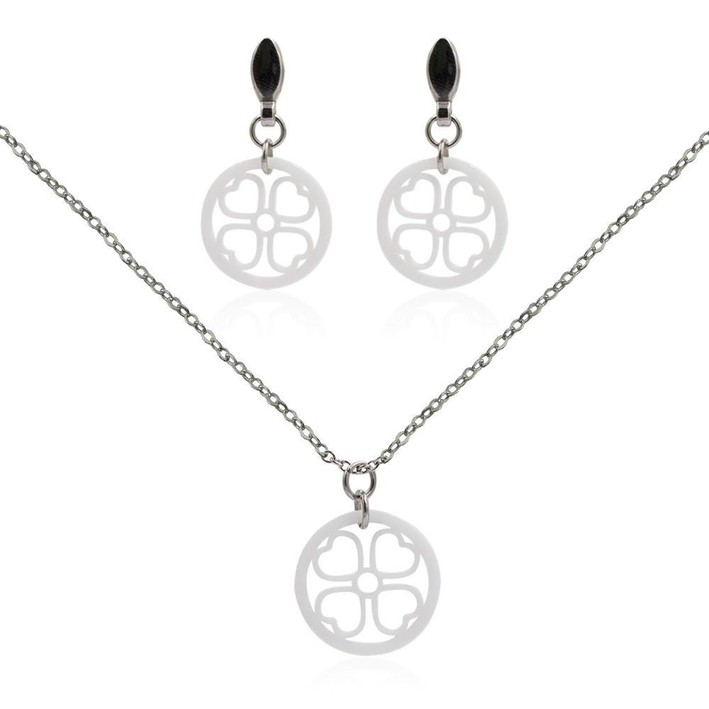 Ceram jewelry set stainless steel jewelry set VD057496-676