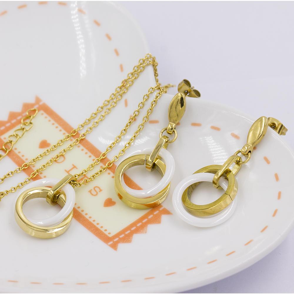 Stainless jewelry set women jewelry set earrings VD057498-676