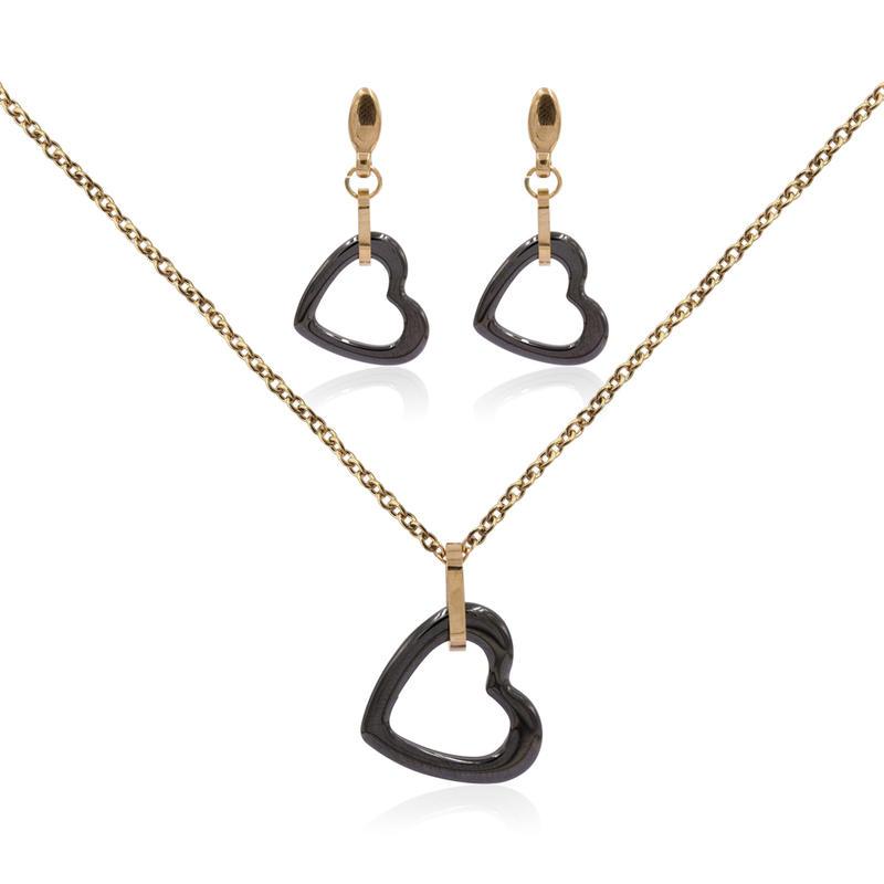 Fashion jewelry set jewelry set stainless steel beautiful jewelry set VD057500-676